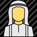 islamic, arabian, arab, profile, person, muslim, avatar