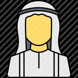 arab, arabian, avatar, islamic, muslim, person, profile icon