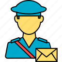 avatar, courier, courier boy, man, person, postman, profile icon