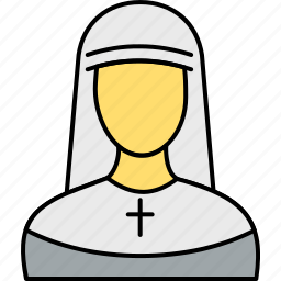 christian, christianity, church, jesus, nun, religious, sister icon