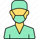 avatar, doctor, health, hospital, medical, practitioner, surgeon icon
