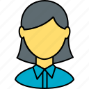 avatar, education, girl, school, school girl, student, study icon