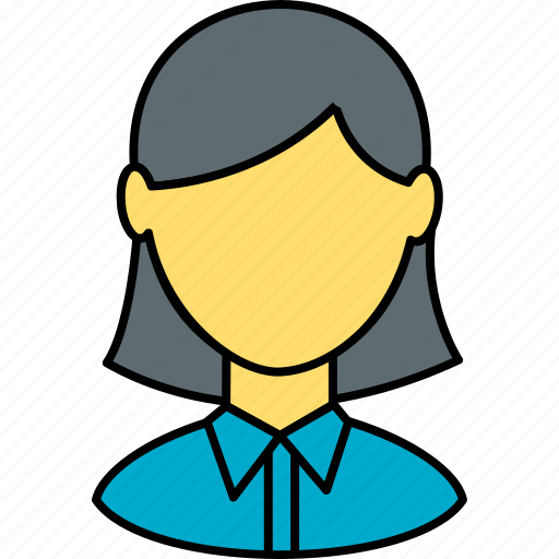avatar, education, girl, school, school girl, student, study icon