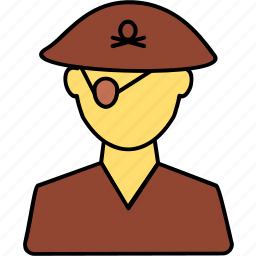 avatar, detective, male, people, person, pirate, profile icon