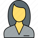 avatar, businesswoman, female, girl, person, profile, woman icon