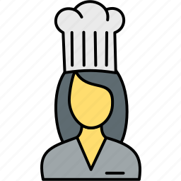 avatar, chef, cook, female, girl, hat, lady icon