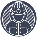 fire, fireman, man, protect, rescuer icon
