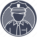 authority, crime, police, policeman, protection icon