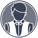 restaurant, server, services, serving, waiter icon