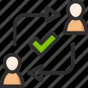 change, check, information, mark, ok, profile, user icon