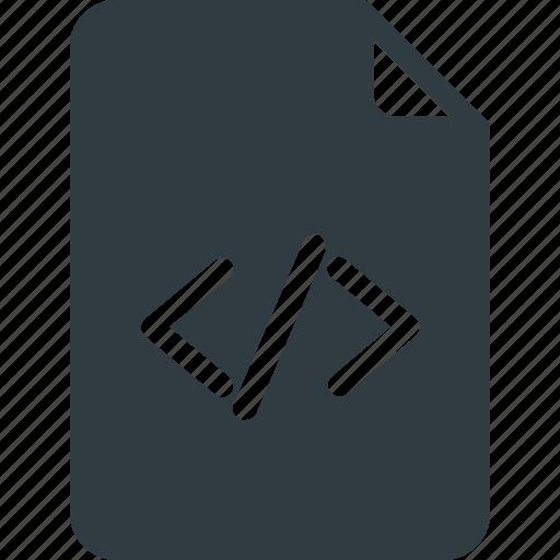 code, development, file, programing icon