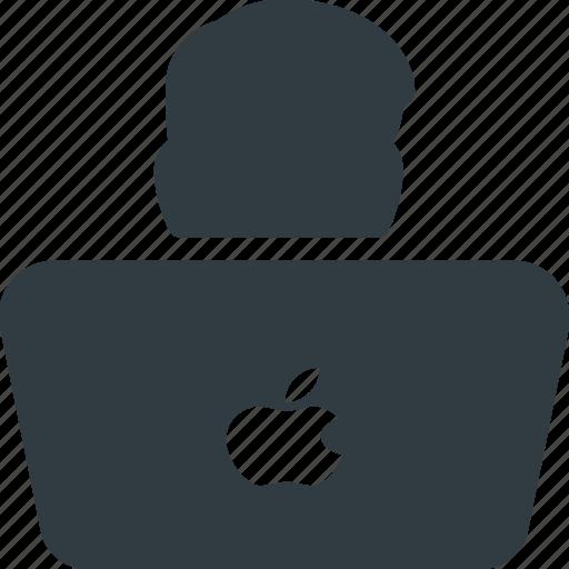 Programer, laptop, computer, user, developer icon