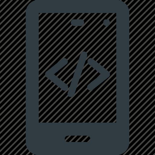 Development, mobile, code, programing, source icon