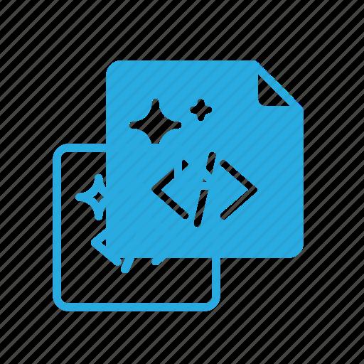 clean, code, coding, good, shine icon