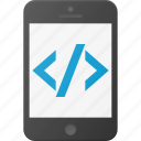 code, development, mobile, programing, source icon