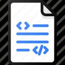 code, file, development, programing