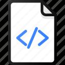 code, file, programing, development
