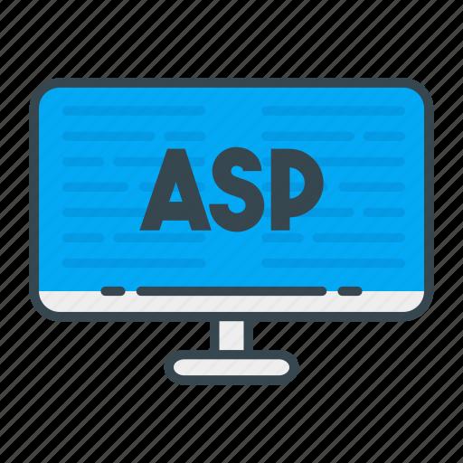asp, language, programming, programming language, web, web developer, web development icon