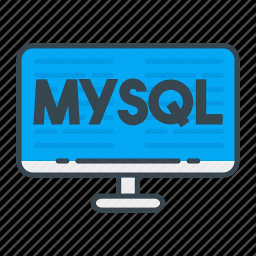 language, mysql, programming, programming language, web, web developer, web development icon