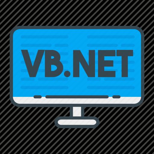 language, net, programming, programming language, vb, vb.net, web icon