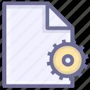 application, configuration file, development, programming icon