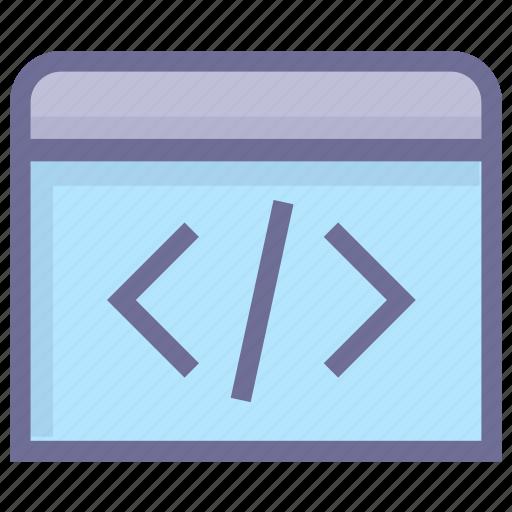 application, development, programming, script code icon