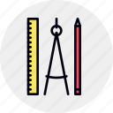 build, design, equipment, geometry, math, tool, tools icon