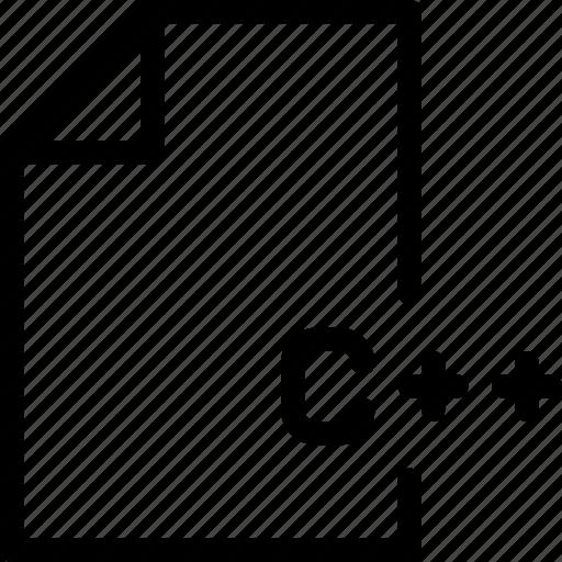c, document, extension, language, plus icon