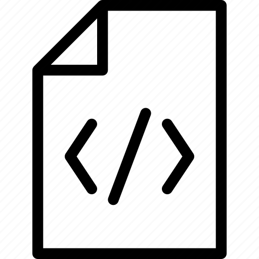code, coding, development, doc, programming icon