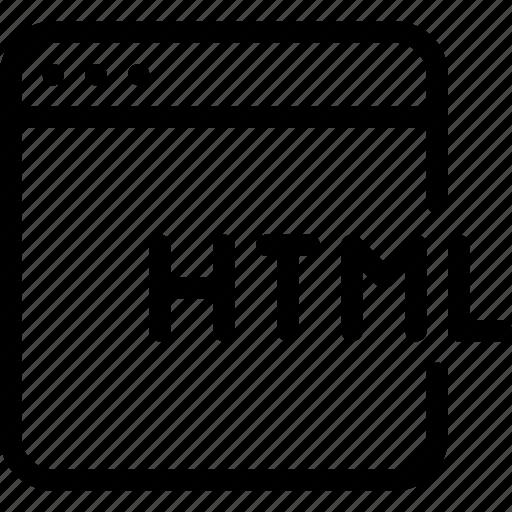 code, coding, html, program, programming icon