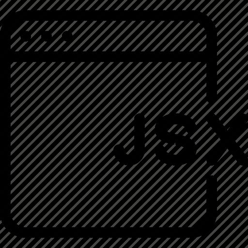 code, coding, jsx, languages, programming icon