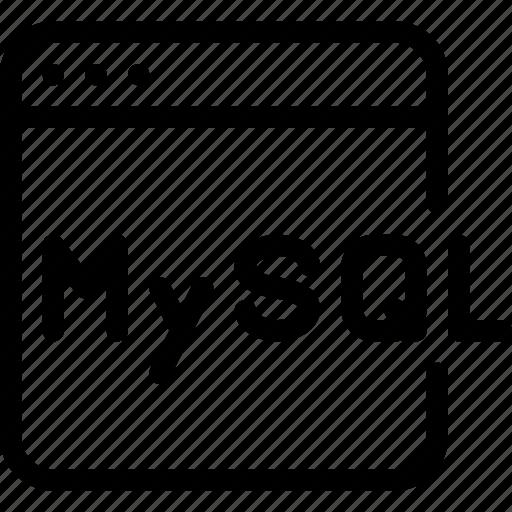 coding, development, language, mysql, programming icon