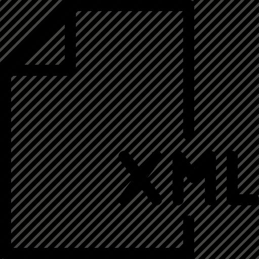 document, file, files, format, xml icon