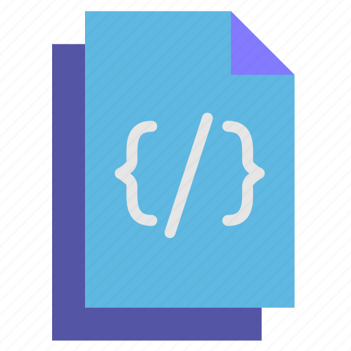 code, document, html, programming, website icon