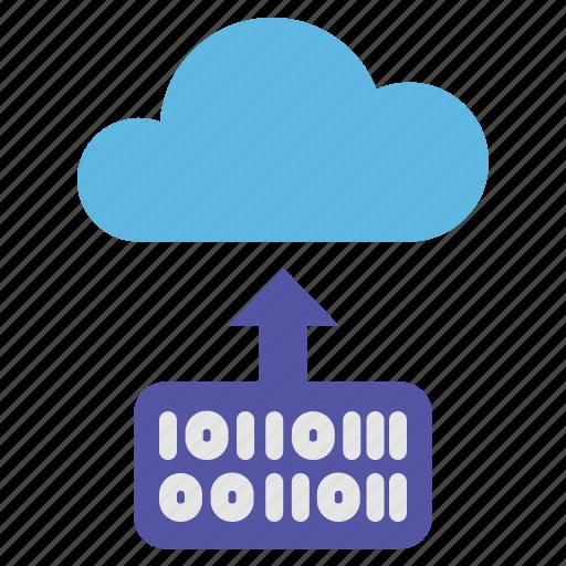 binary, cloud, computer, computing, website icon