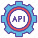 api, code, gear, programming, website icon