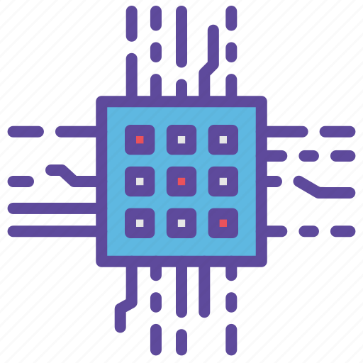 computer, cpu, laptop, microchip, processor icon