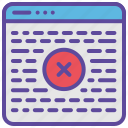 binary, code, error, programming, website icon
