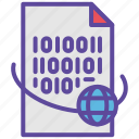 binary, code, document, file, programming icon