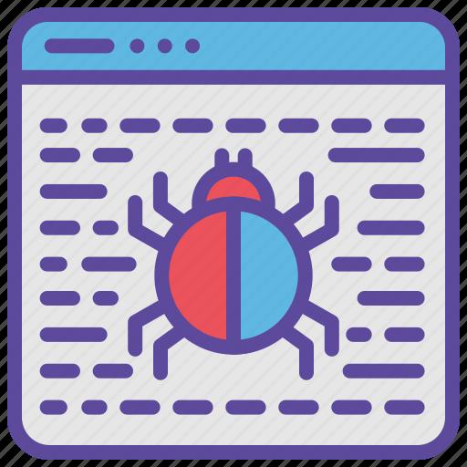 Bug, code, hack, virus, website icon - Download on Iconfinder