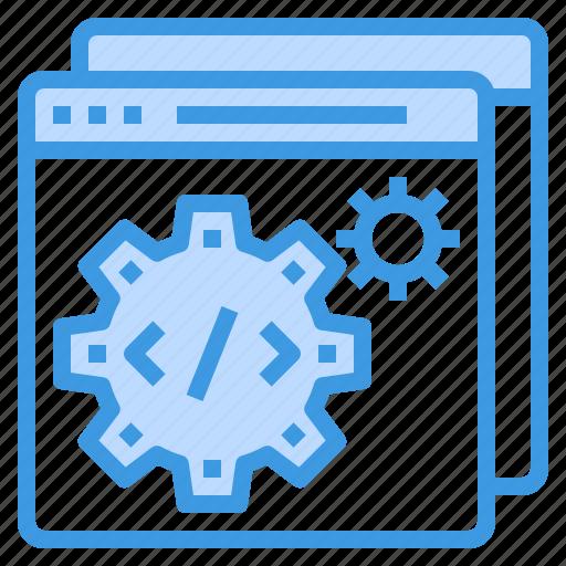 coding, development, programming, technology, web, website icon