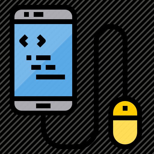 coding, development, mobile, programming, technology, web icon