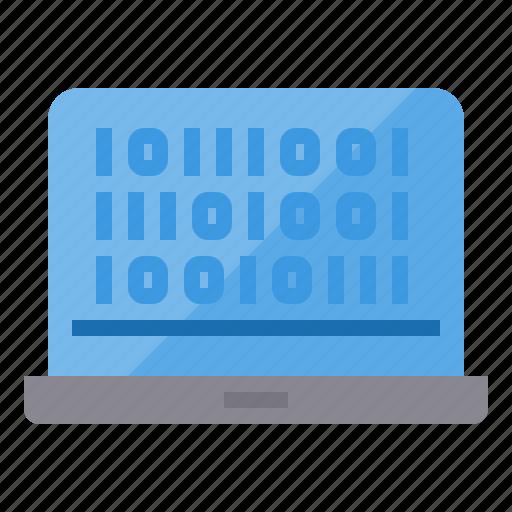 binary, code, coding, development, programming, technology, web icon