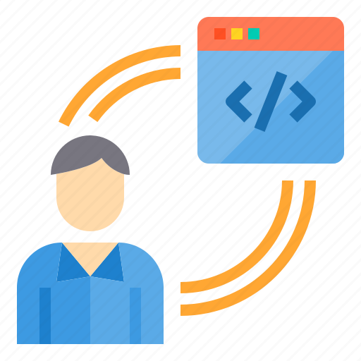 coding, development, programmer, programming, technology, web icon