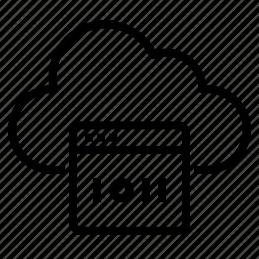 cloud, coding, computing, development, programming, technology, web icon