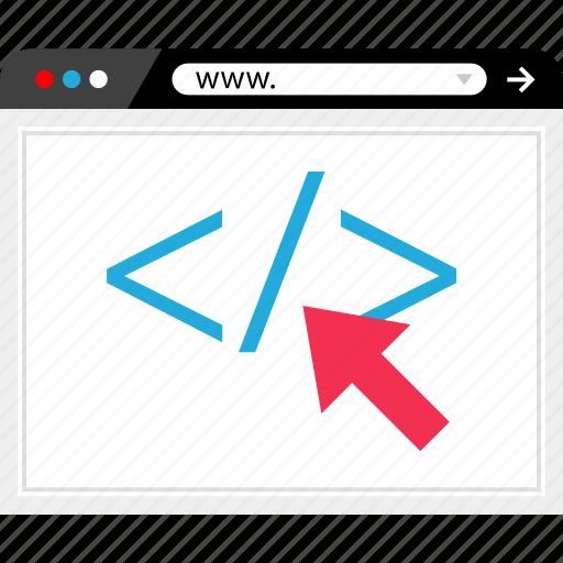 click, internet, online, web icon