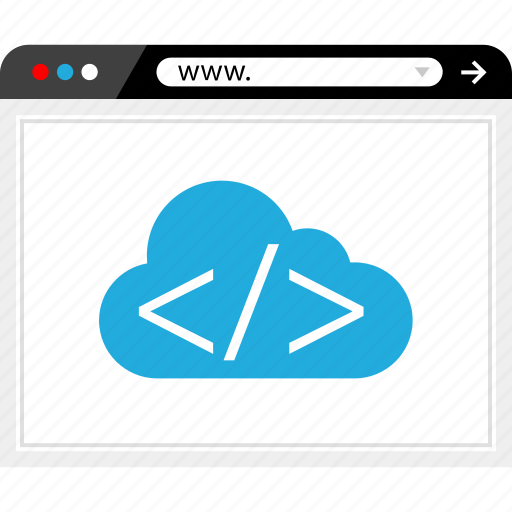 cloud service, code, internet, streaming icon