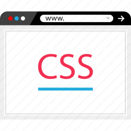 browser, css, internet, online, sheet, style, web icon