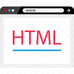 browser, end, front, html, internet, online, web icon