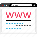 browser, internet, mockup, online, visit, web, wireframe icon